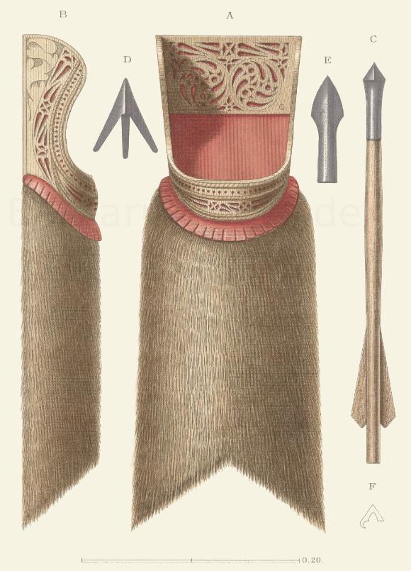 Pfeilköcher aus der Mitte oder der zweiten Hälfte des 15. Jahrhunderts.
