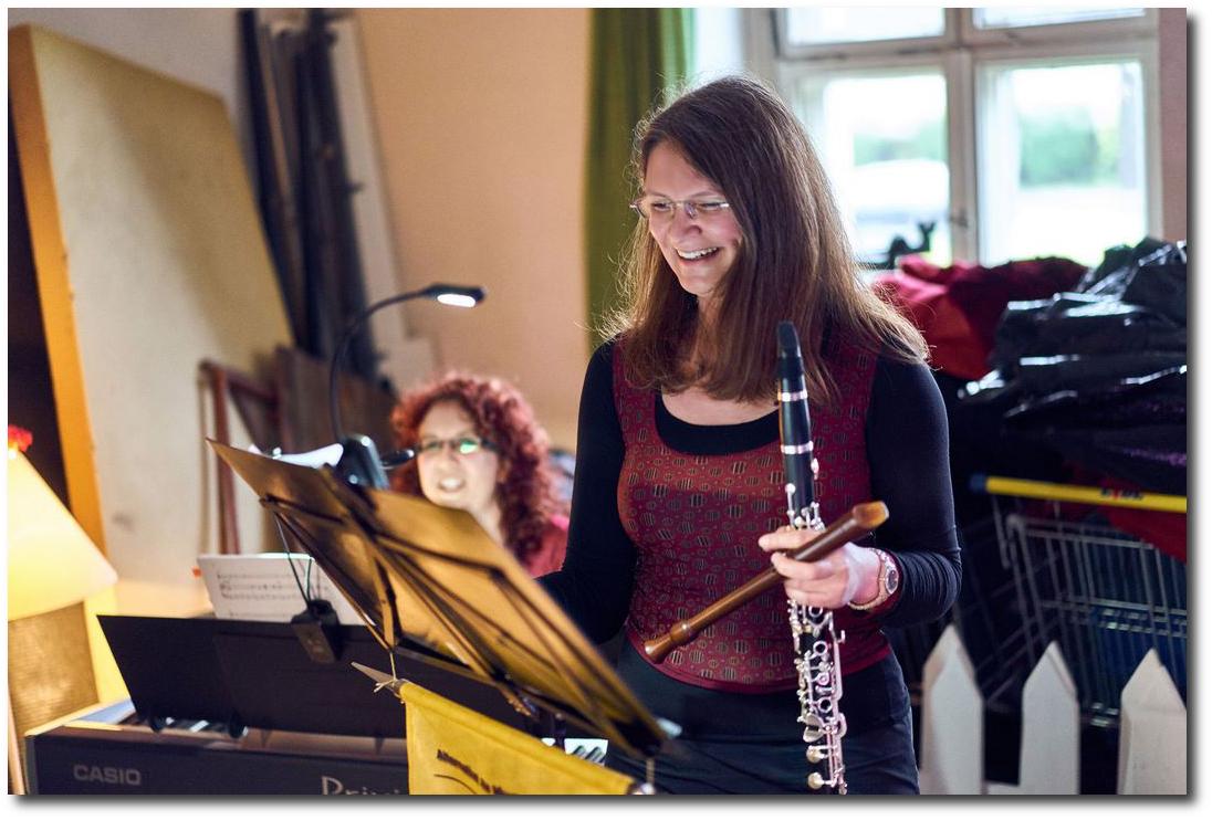 """2016: """"Musik zwischen den Requisiten"""" mit Klarinette & Flöte, Dresden"""