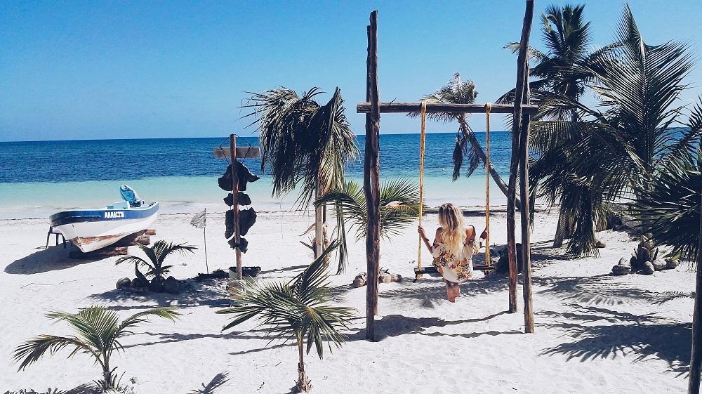 Strand in Mahahual, Yucatan