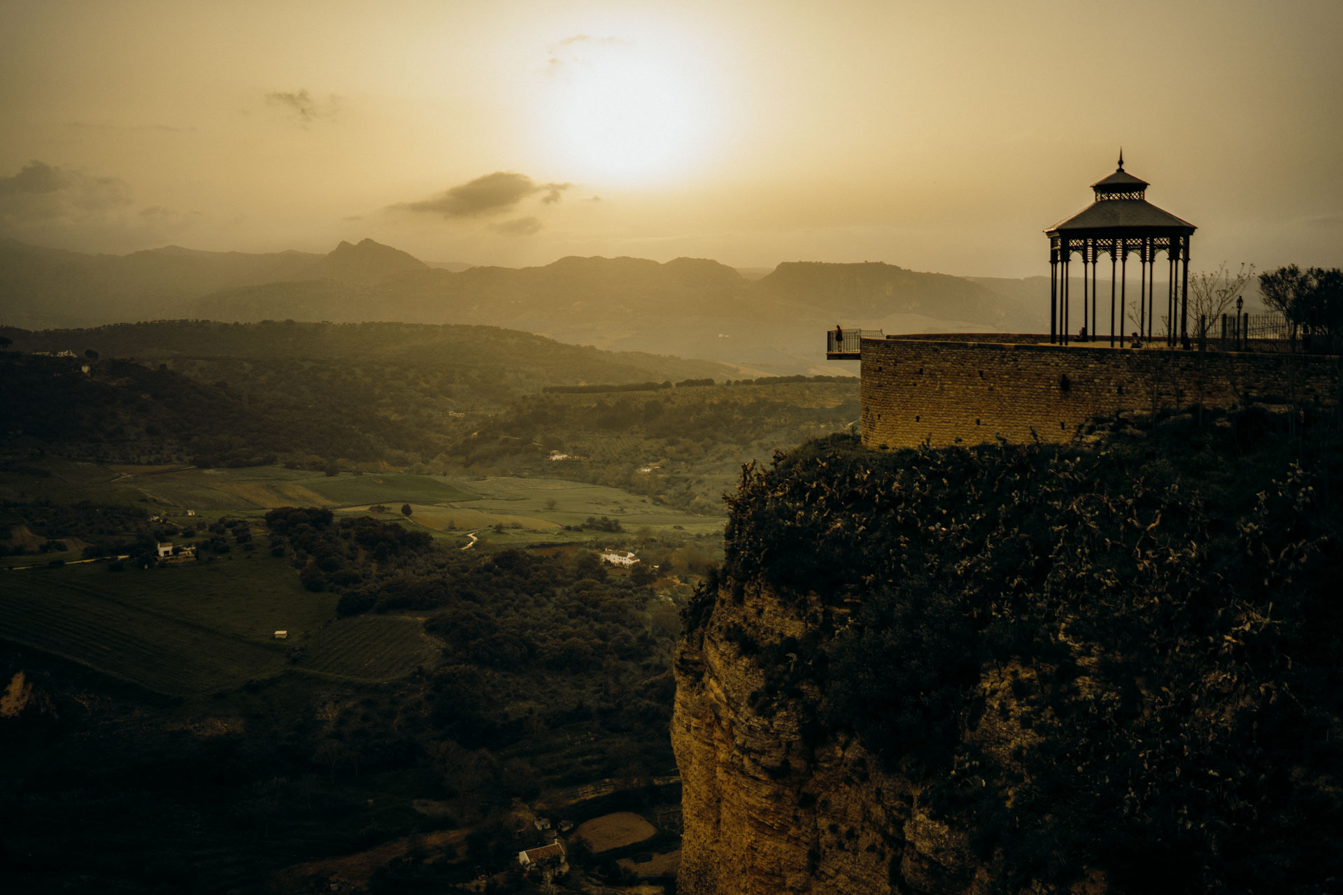 Spanien Ronda Landschaft Sonnenuntergang