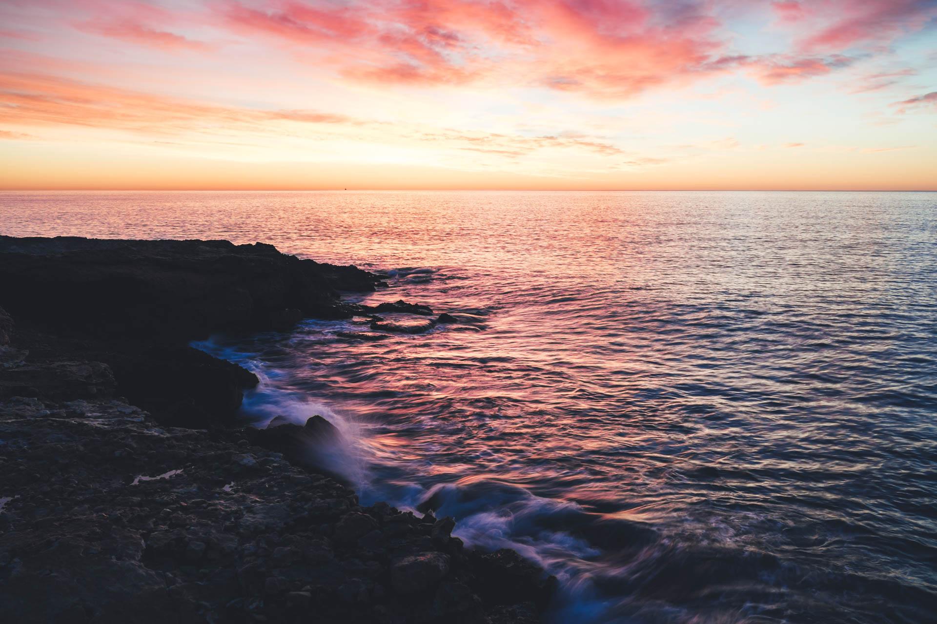 Spanien Peniscola Sonnenaufgang