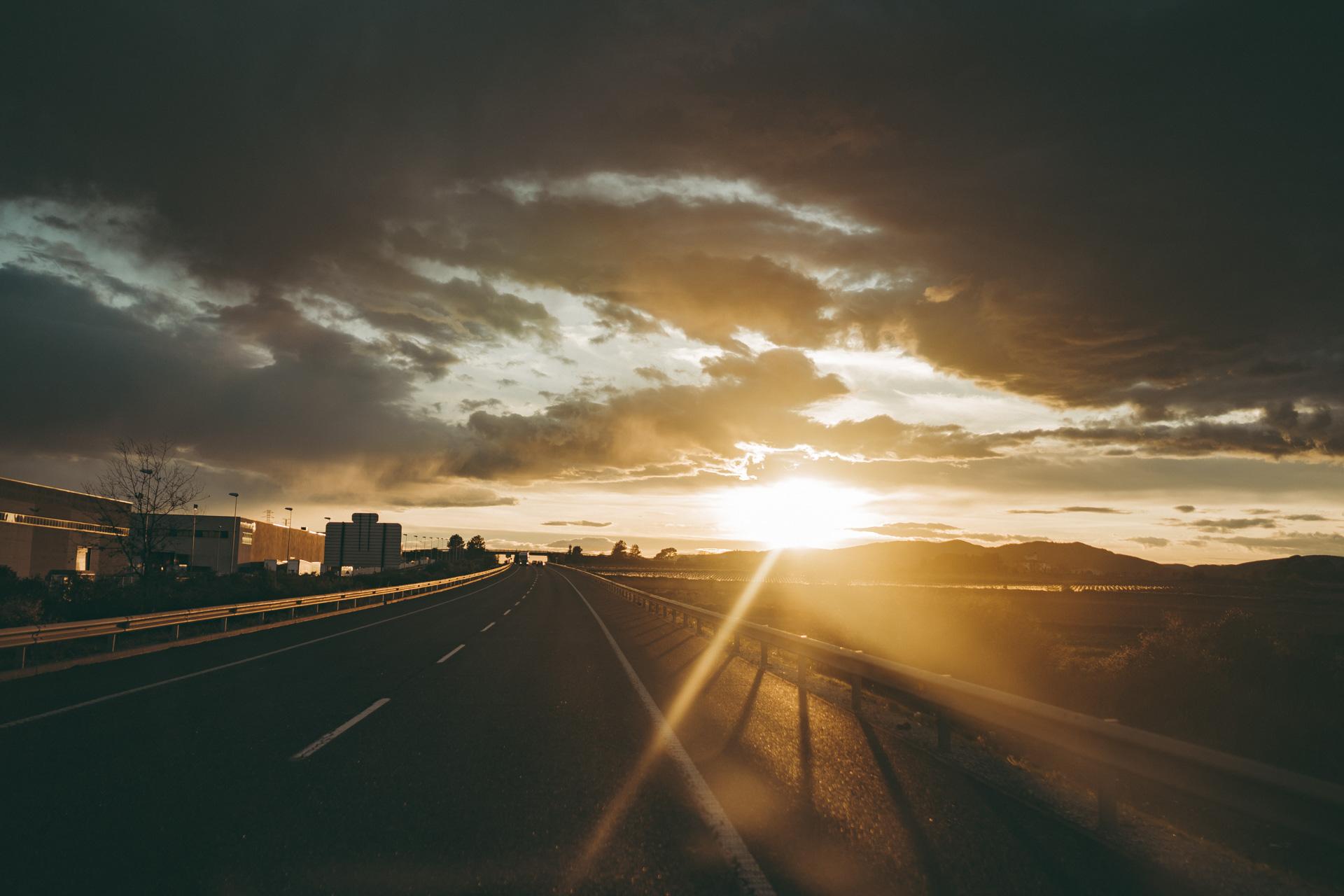 Spanien Reisen Sonnenuntergang