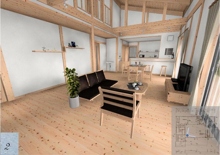 壁は、自然素材の「幻の漆喰」、天然の空気清浄機がお部屋の空気をおいしくしてくれます。