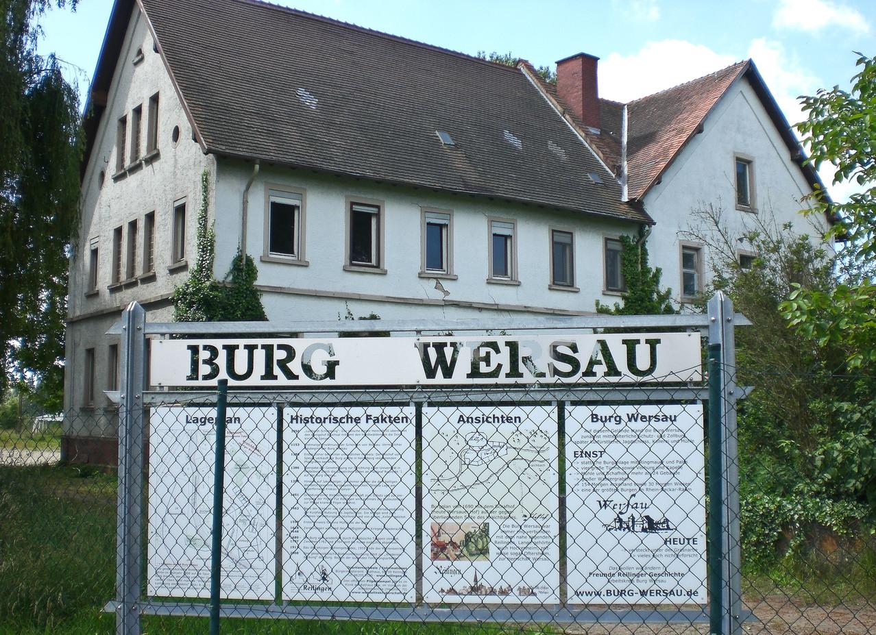 Klar doch: Burg  Wersau bei Reilingen.