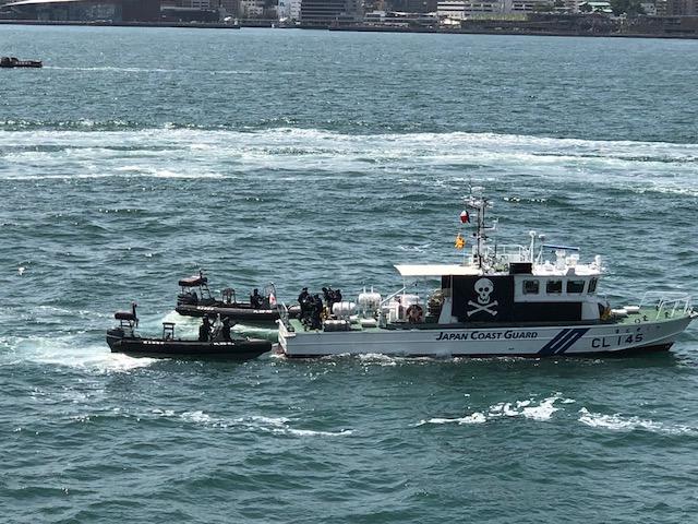 5月25日 海上保安部総合訓練視察
