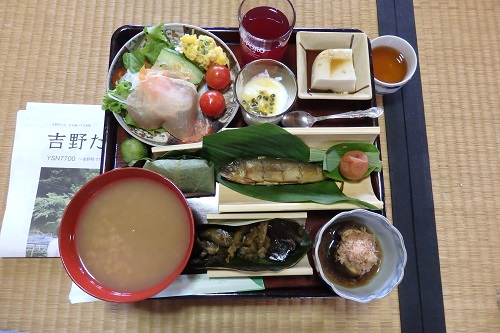 吉野「喜佐谷 里山の会」木村さんが作って下さった朝食