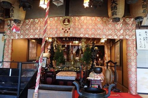 大師山寺さんの祭壇
