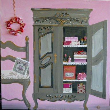 L'armoire rose 100x100