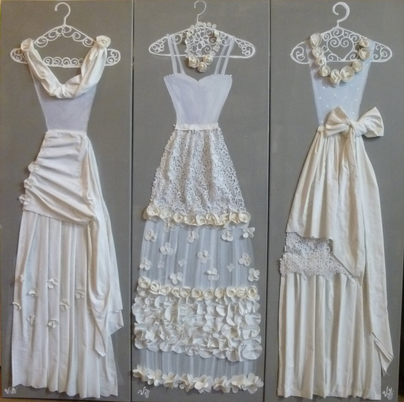 Robes blanches 2015 3x40x120