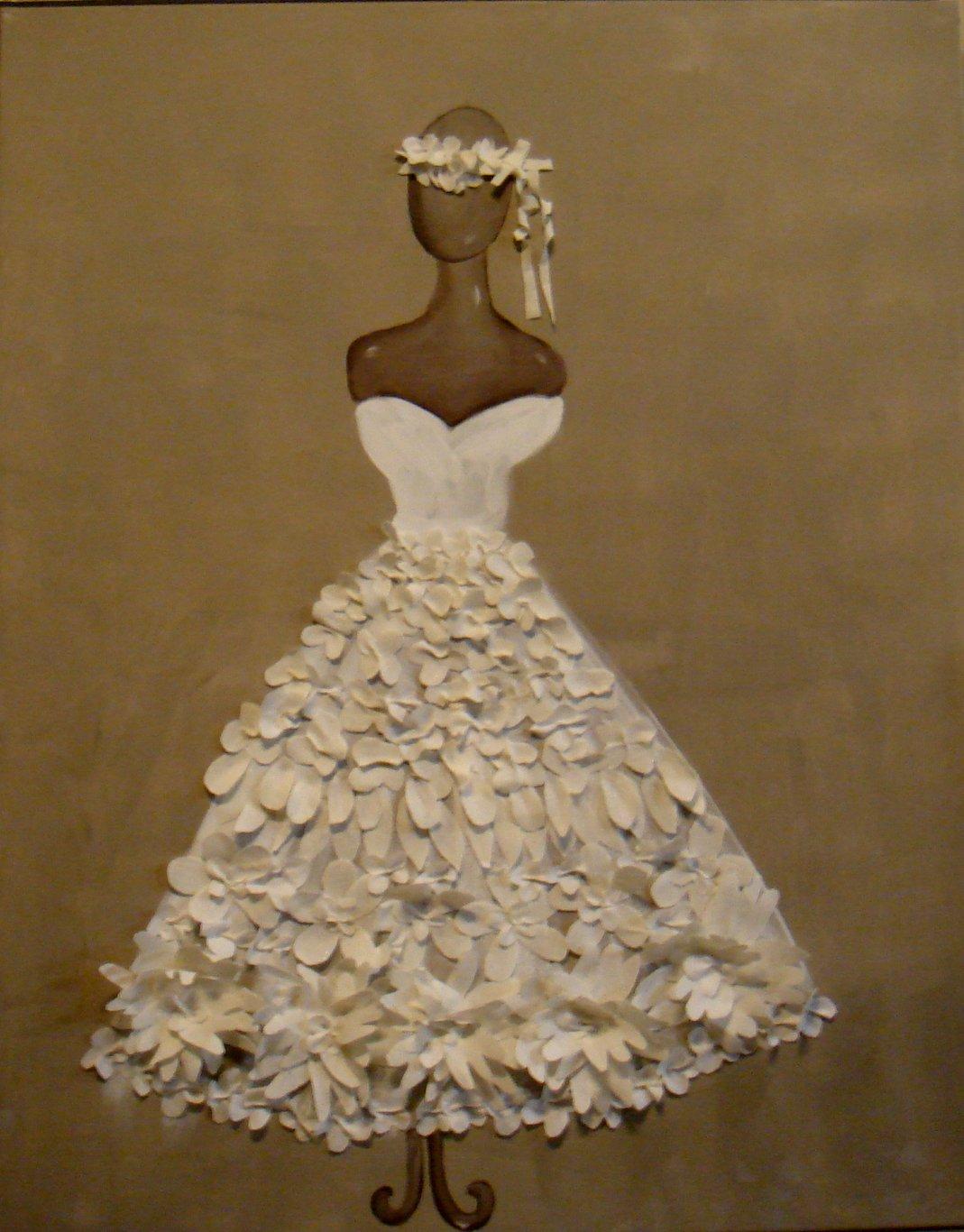 Robe blanche 100x80