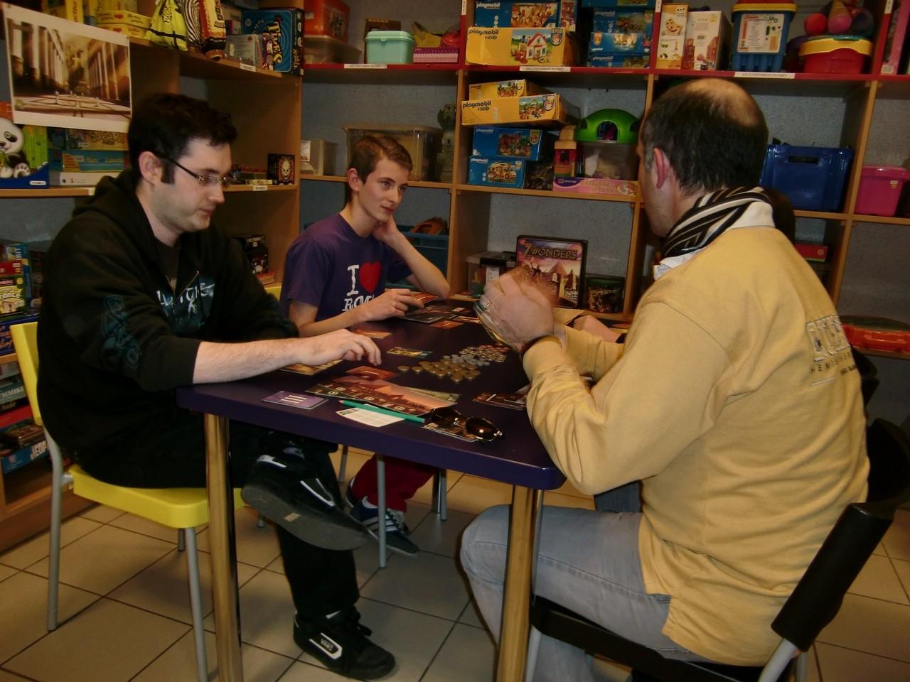 1ère ronde, table Olympie : Julien, Guillaume, Ronan et Stéphane
