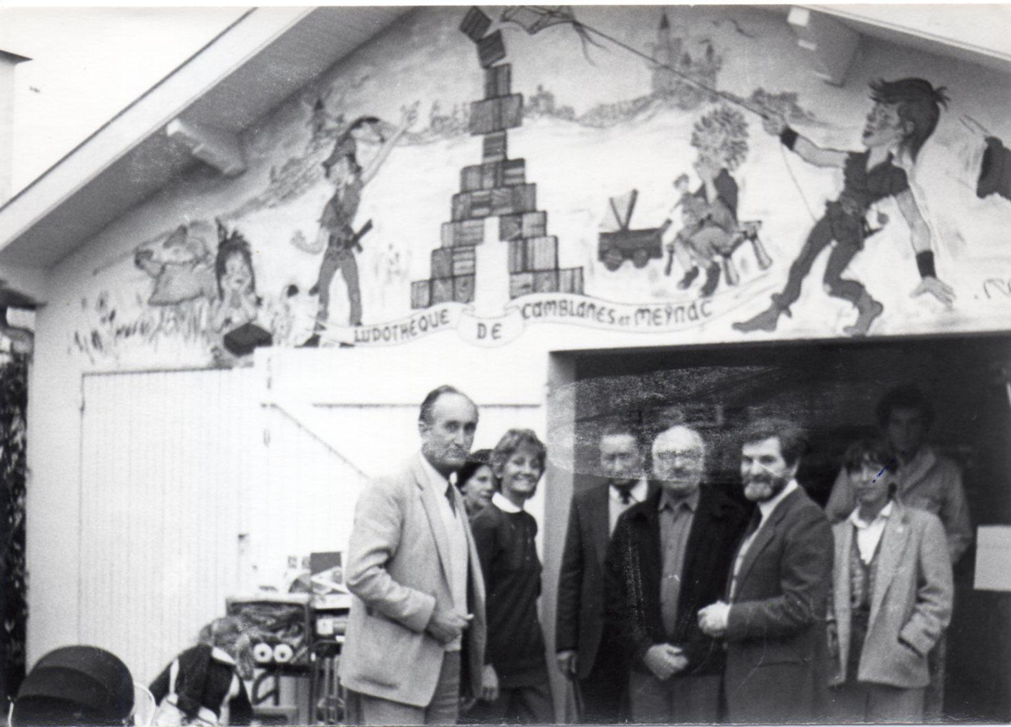 l'inauguration de la ludothèque en 1977