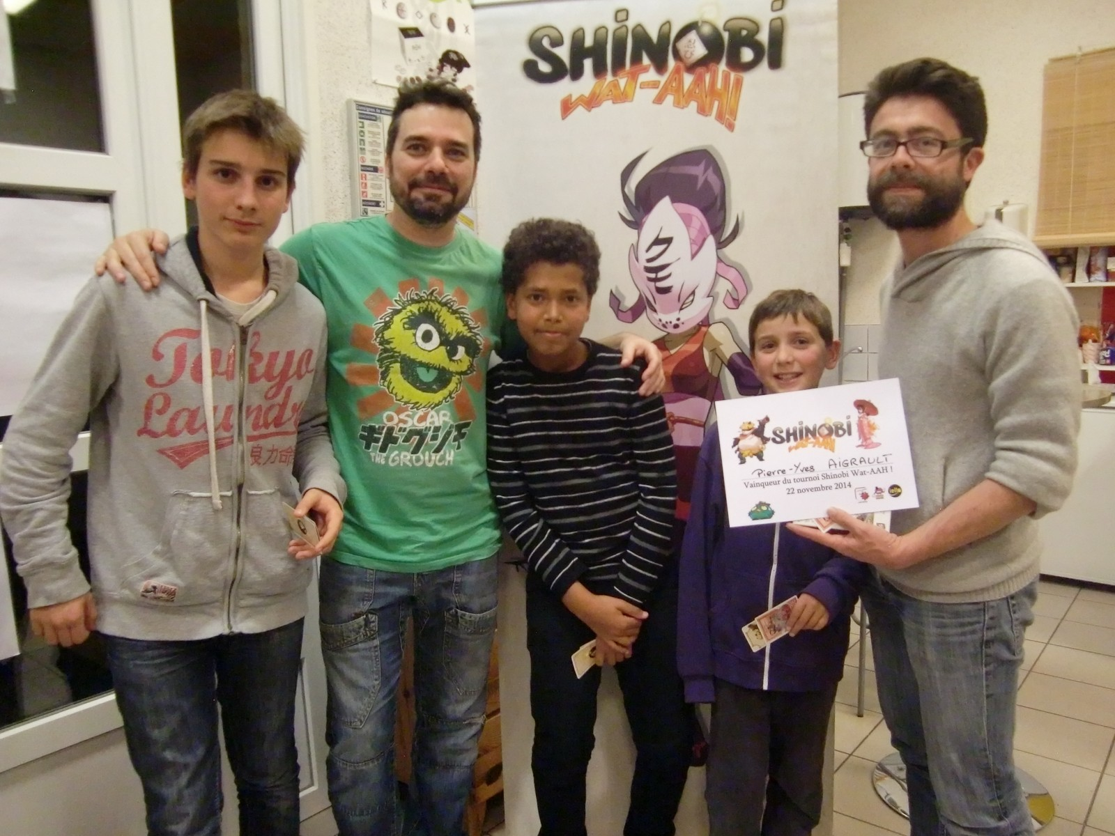 "les finalistes d'un tournoi ""Shinobi Wat-AAH !"""