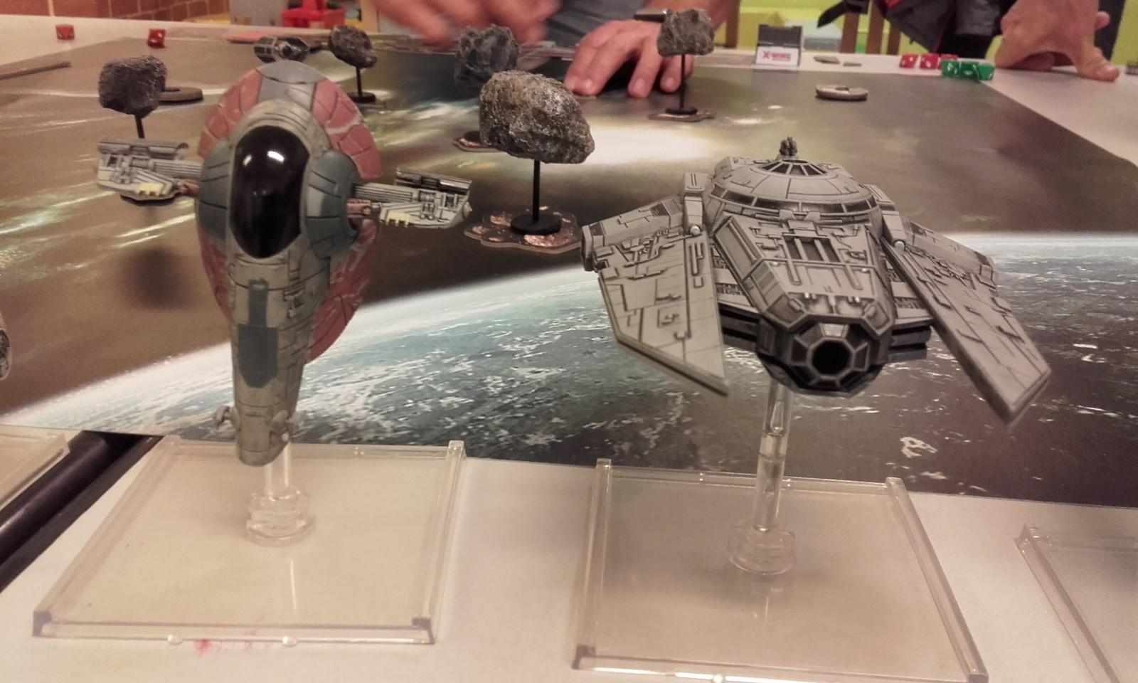 des vaisseaux de X-Wing (dont celui de Boba Fett)