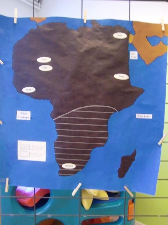 carte de l'Afrique pour situer l'origine des jeux