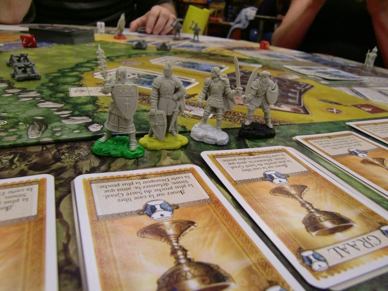 4 chevaliers prêts à conquérir le Graal
