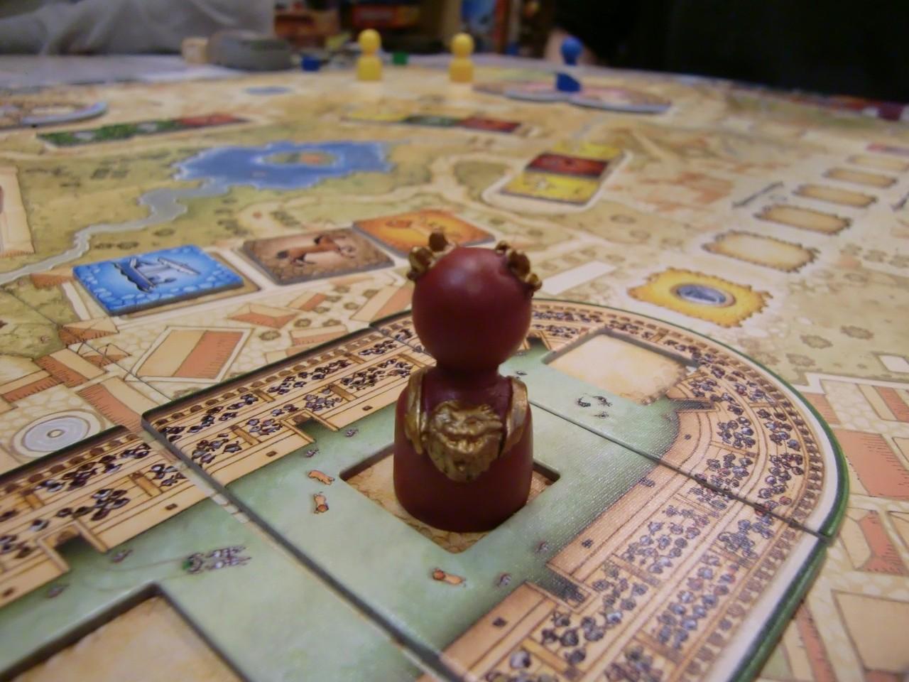 l'Empereur visite une arène de Collosseum