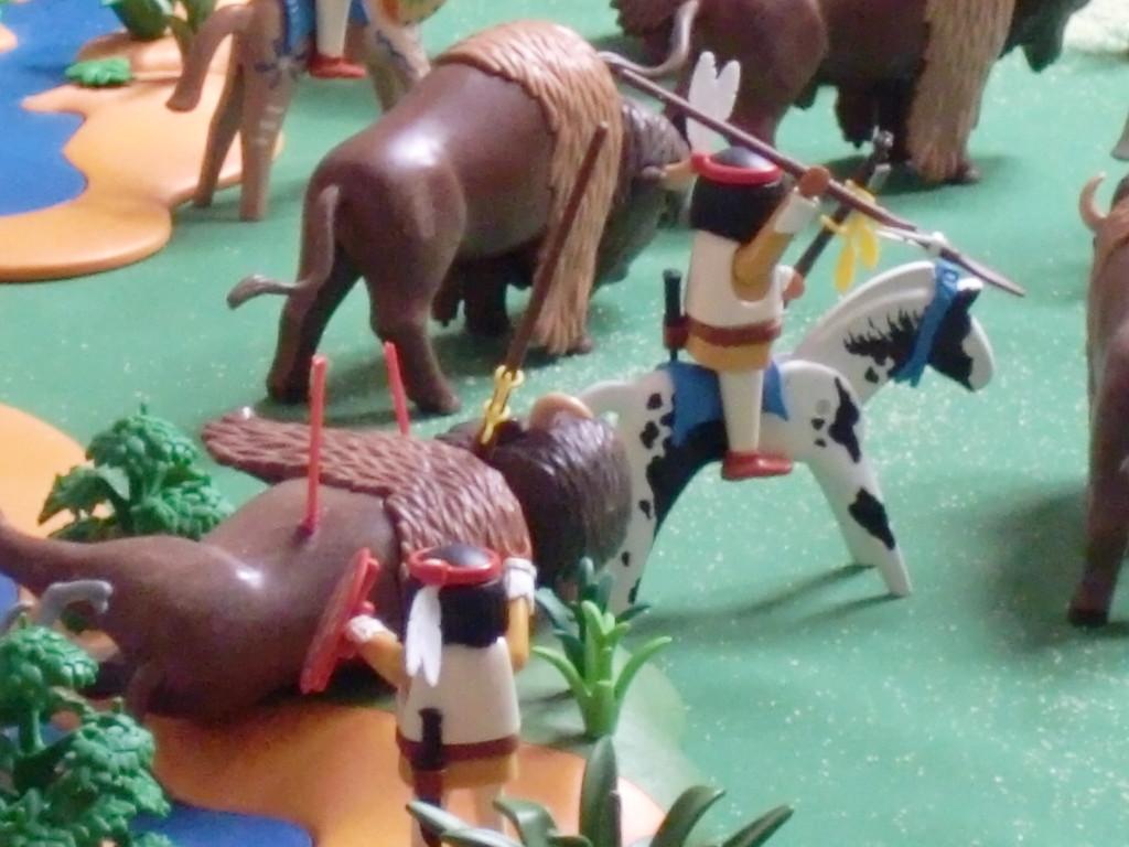 le soucis du détail avec la lance dans le flanc du bison