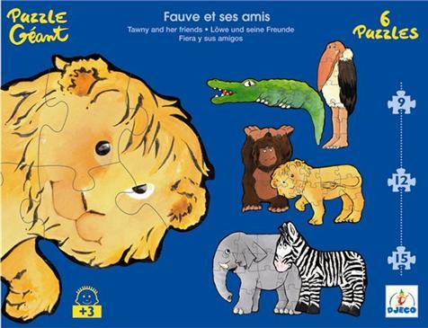 """Puzzle géant """"Fauve et ses amis"""""""