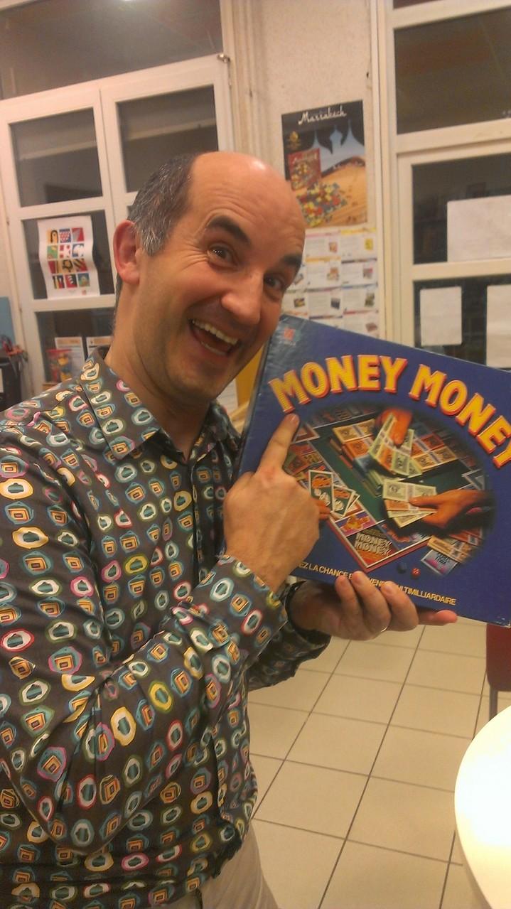 Un jeu bien dans le thème de la soirée : Money Money!