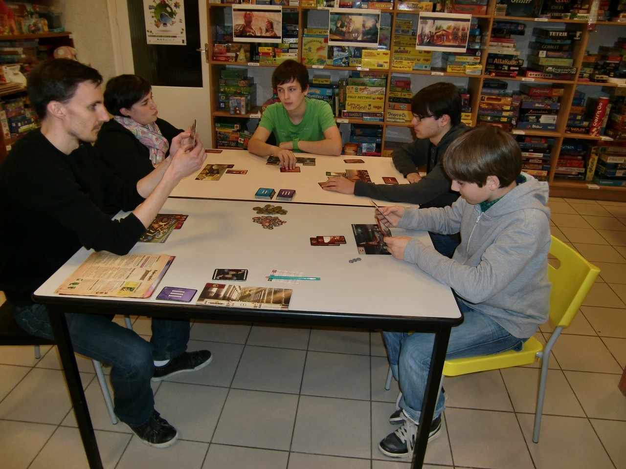 1ère ronde, table Alexandrie : Benoît, Lydie, David, Tanguy et Hippolyte