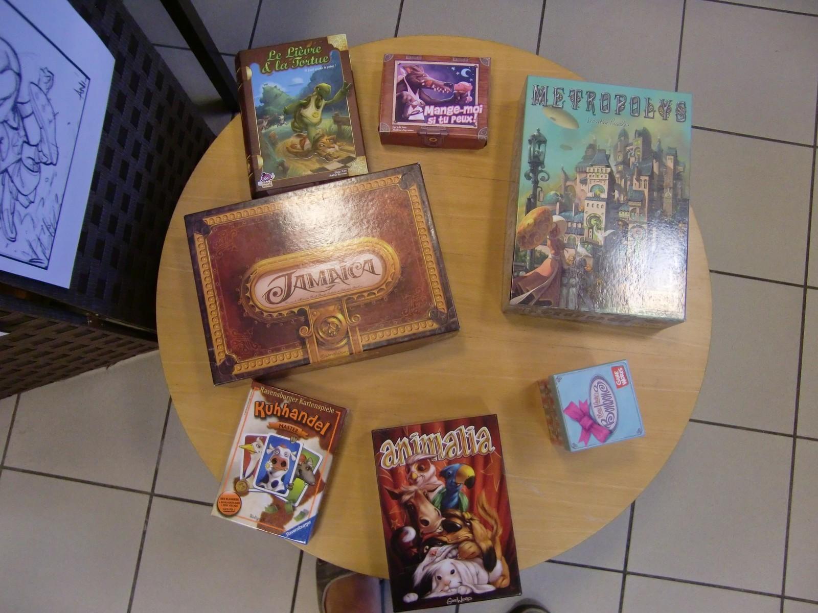quelques-uns des jeux illustrés par Mathieu Leyssenne