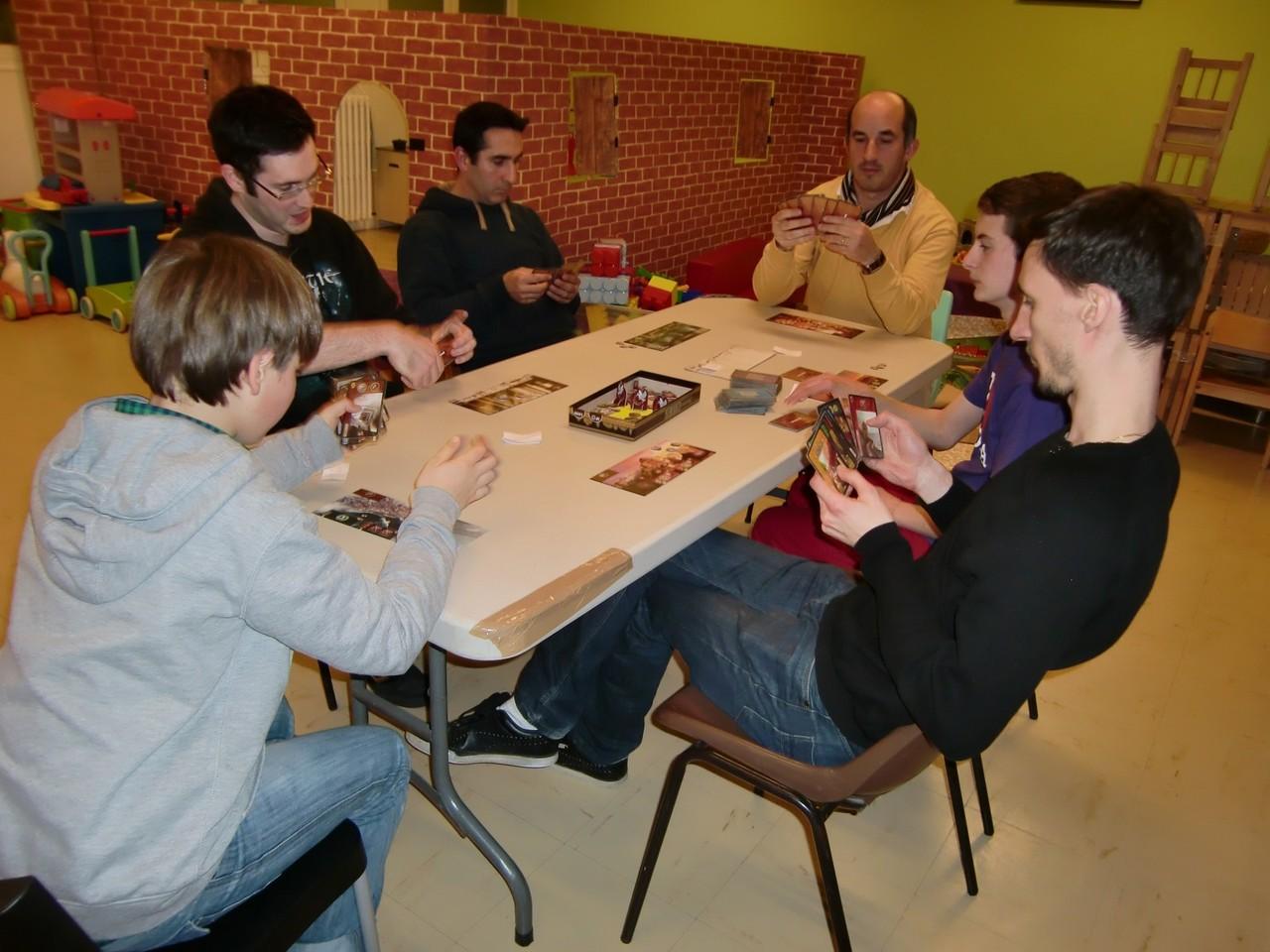 3ème ronde, table Rhodes : Hippolyte, Julien, Jean-Christophe, Stéphane, Guillaume et Benoît