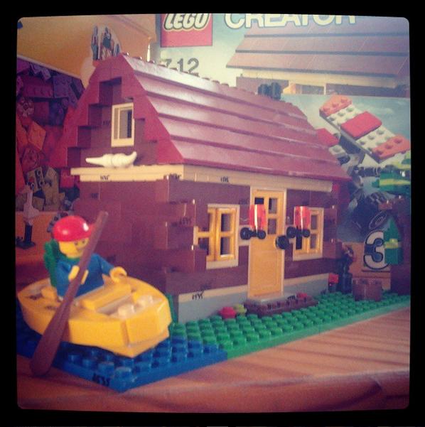 une maison forestière