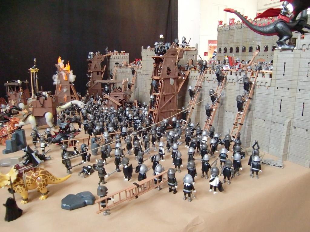 ce diorama était gigantesque et impressionnant