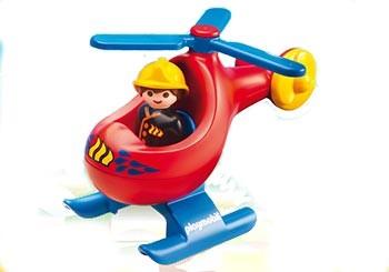 Playmobil 123 : l'hélicoptère de pompier