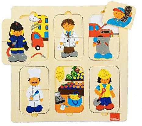 Puzzle bois - métiers