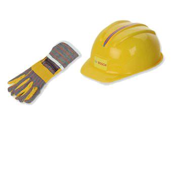 Casque & gants de chantier