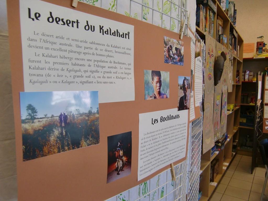 panneaux - désert de Kalahari/ Bochimans