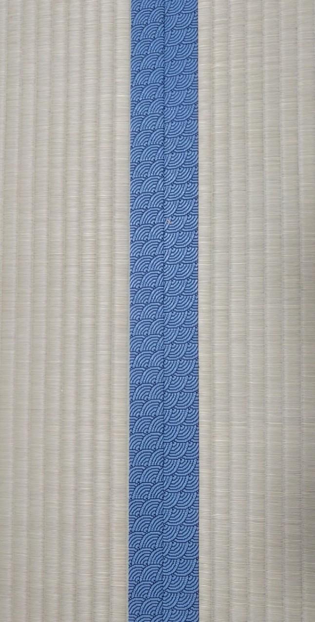 畳縁は、問屋さんオリジナルカラーを使用しました。