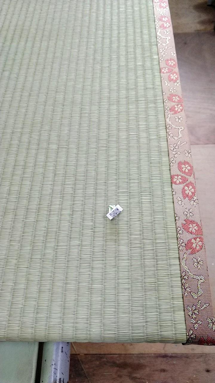 熊本産表を使用して、桜柄の畳縁を使用しました。
