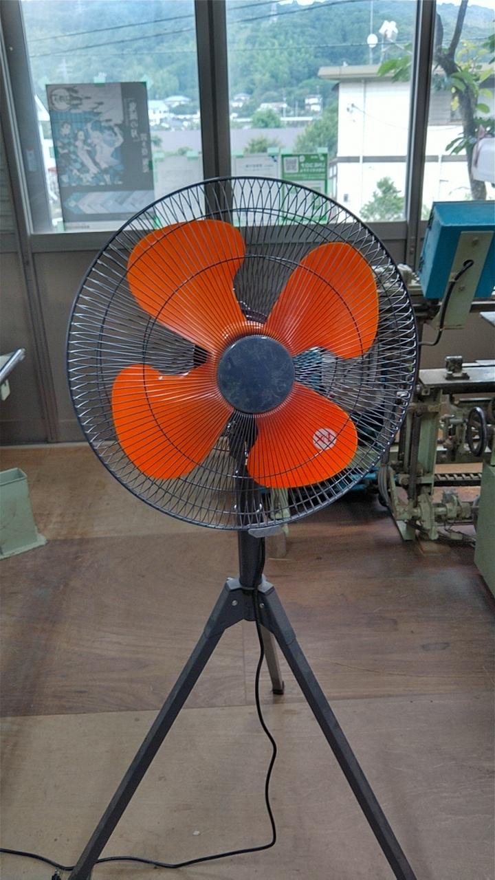作業場用扇風機を新しい物に交換しました。