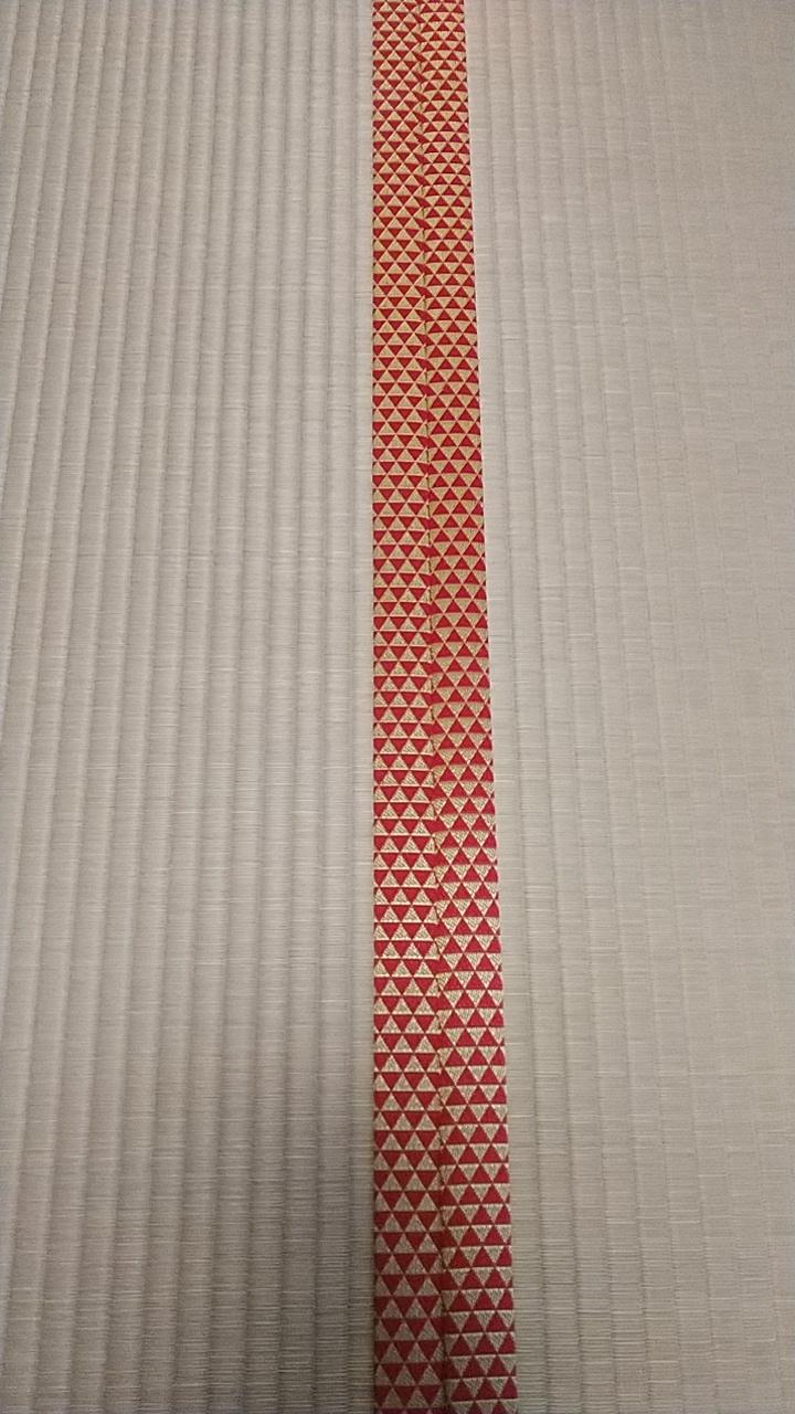 畳縁は、鱗柄 問屋様オリジナルカラーを使用しました。