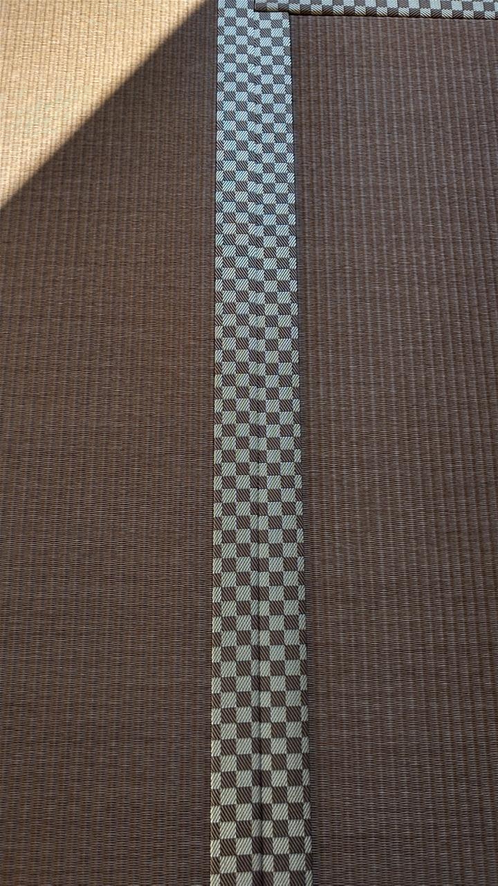 畳縁は、ルーミーⅣ No44 市松柄茶色を使用しました。