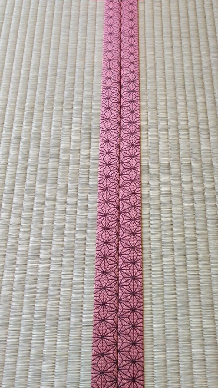 畳は、麻の葉柄 桜を使用しました。