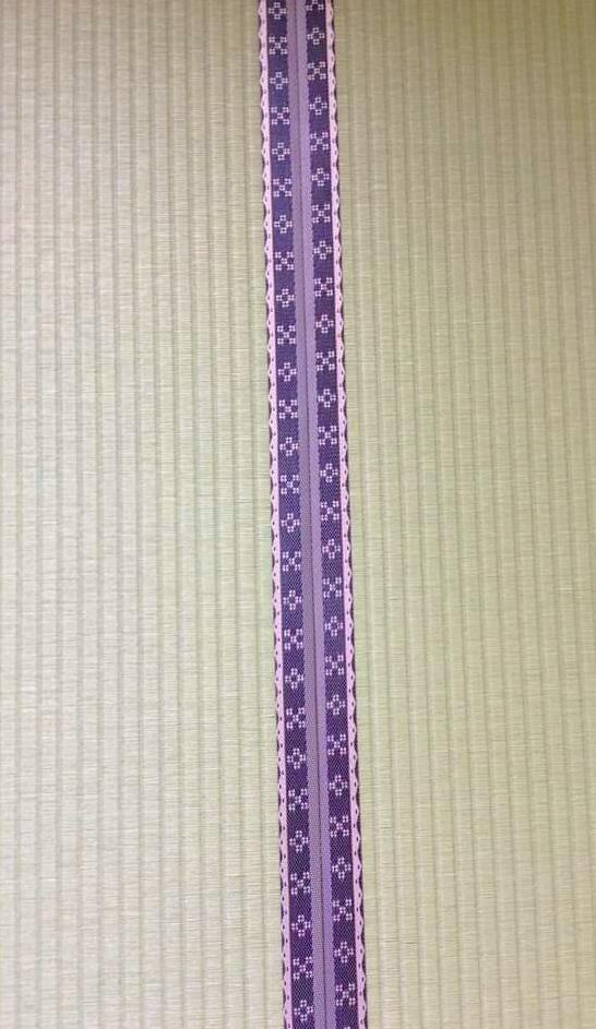 ダイケン銀白表(和紙表)沖縄のカナサ柄畳縁です。
