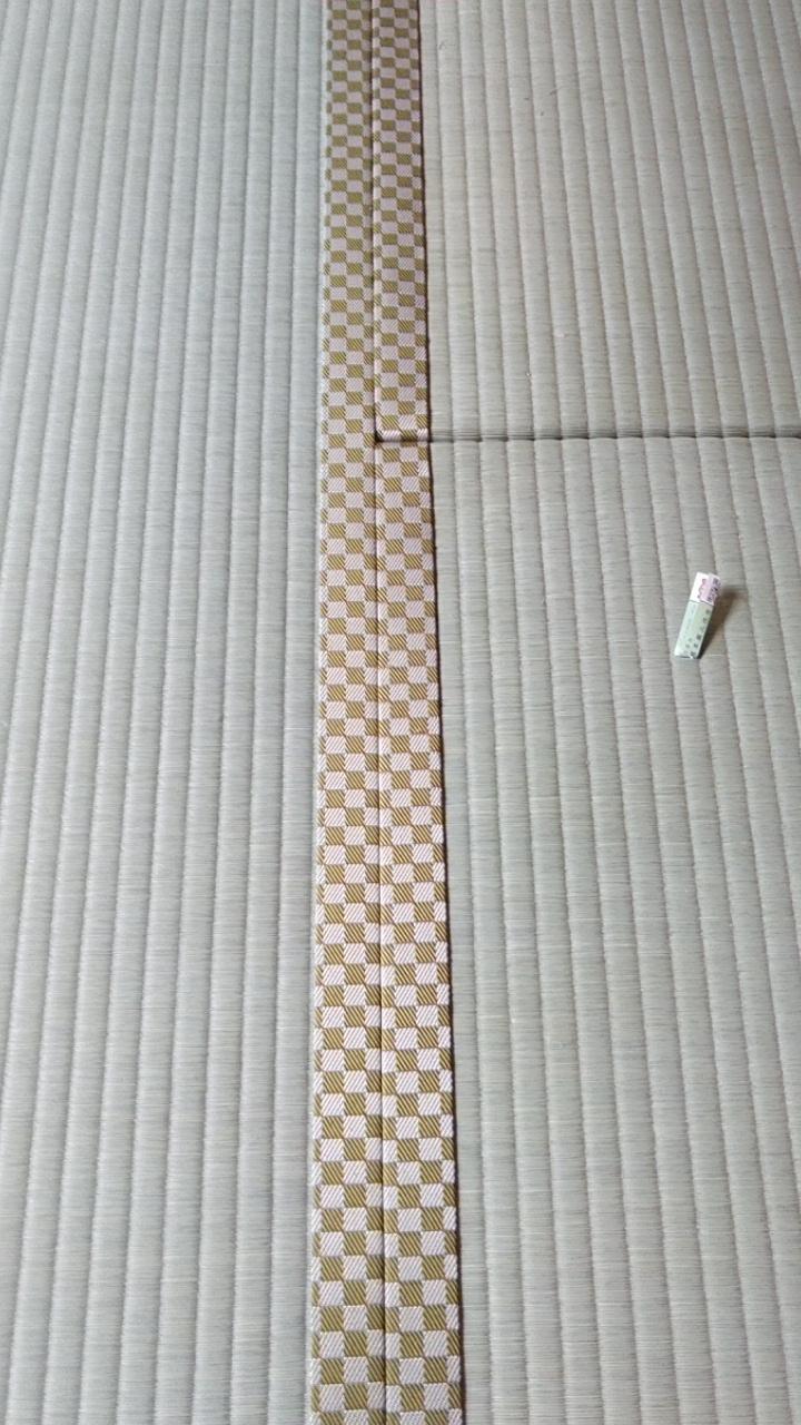 畳縁は、ルーミーⅣ No41 市松柄黄色を使用しました。