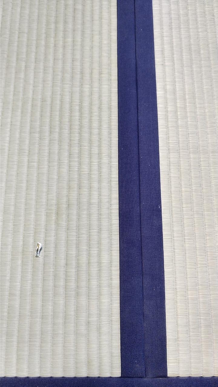 畳縁は、綿縁高級品 麗峰富士 紫紺色を使用しました。