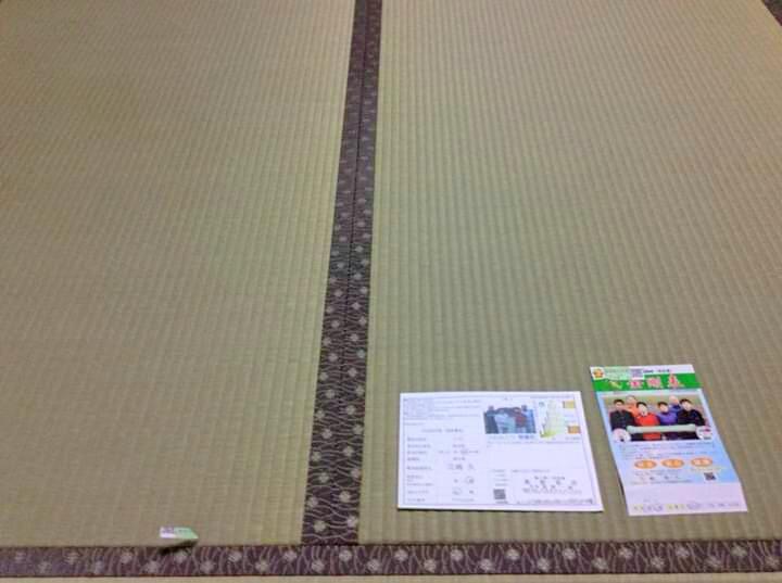 H29年に熊本県にい草の刈り取り研修にお伺いした、江嶋様の上級品畳表を使用して表替えをさせていただしました。