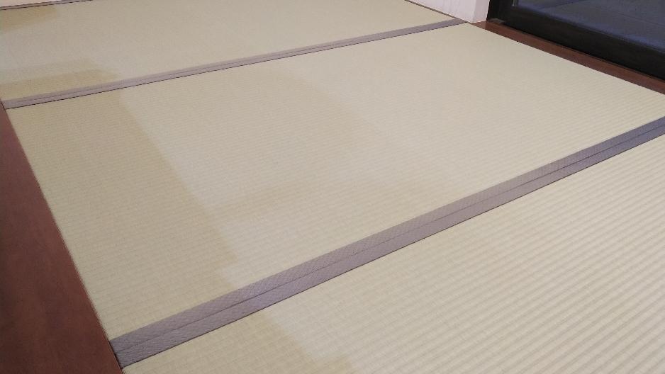 京間サイズの畳をセキスイMIGUSA表グリーン色を使用して表替えしました。