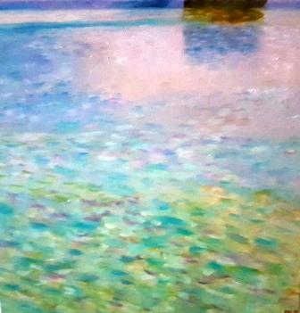 Attersee 2, Öl auf Leinwand, inspiriert von Gustav Klimt
