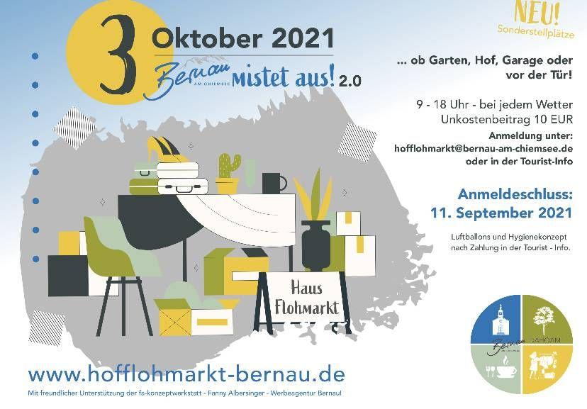 Helfer & Verkaufsartikel für Bernauer Hofflohmarkt gesucht