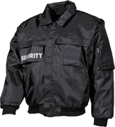 security jacke mit security aufdruck