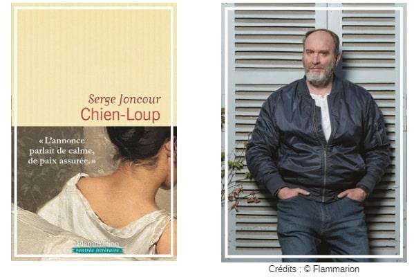 Couverture Chien-Loup et photo auteur Chronique littérature roman suspense guillaume cherel
