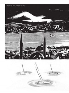 Dessin Istanbul ciel nuit