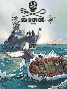 Couverture BD Sea Shepherd Milagro   #BD #Reportage #Association #ONG #PaulWatson #SeaShepherd #Protection #Extinction #Combat #Environnement #Écologie #Opinion par guillaume cherel